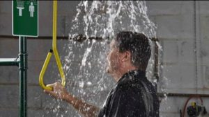 These water bearing systems are likely to freeze in cold weather Safety Shower & Face/Eyewash Stations