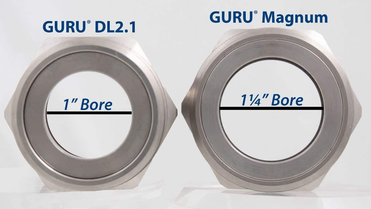 GURU Plug size comparison